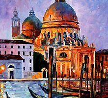 NIGHT VENICE - OIL PAINTING BY LEONID AFREMOV by Leonid  Afremov
