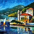 ITALY,  LAKE COMO - VILLA BALBIANELLO - OIL PAINTING BY LEONID AFREMOV by Leonid  Afremov