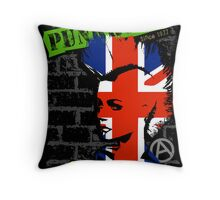 Punkrock - Union jack mohawk Throw Pillow