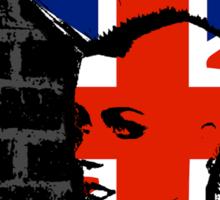 Punkrock - Union jack mohawk Sticker