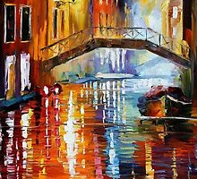 THE CANALS OF VENICE - OIL PAINTING BY LEONID AFREMOV by Leonid  Afremov