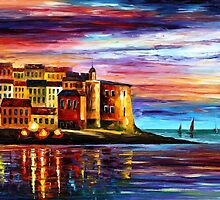 ITALY - LIGURIA - OIL PAINTING BY LEONID AFREMOV by Leonid  Afremov