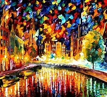 COMING BACK.... AMSTERDAM - OIL PAINTING BY LEONID AFREMOV by Leonid  Afremov