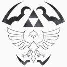 Hylian Shield - Legend of Zelda [white] by TheInternet