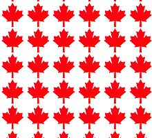 canada flag symbol of maple leaf by nadil