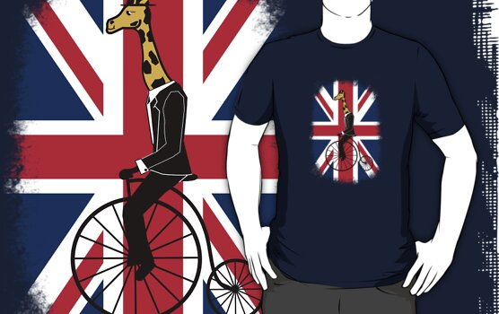 Penny-farthing Giraffe (London Version) by wilynsical