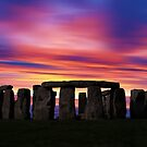 Stonhenge New Age Dawn by David Alexander Elder