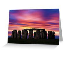 Stonhenge New Age Dawn Greeting Card