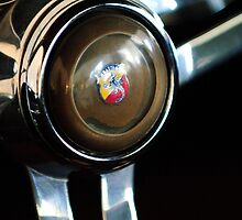 1958 Fiat Abarth 750 GT Double Bubble Steering Wheel Emblem by Jill Reger
