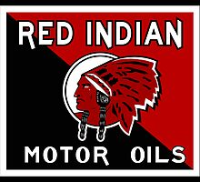 Red Indian Motor Oil vintage sign reproduction by htrdesigns