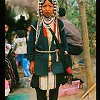 Akha Lady with Full Headress by Rob Steer