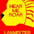 House Lannister Minimalist Cutout by atlasspecter