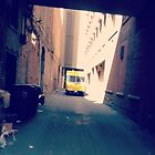 Truck in Alleyway (in color) by cudatron