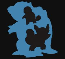 Kanto Starters - Squirtle (Blue and Black by MrSaxon