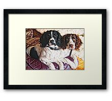 Benson and Jess - best friends Framed Print
