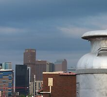 Skyline With Milk Can by UrsulaRodgers