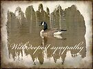 Sympathy Greeting Card - Canada Goose by MotherNature