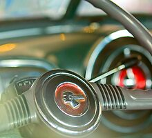 1952 Pontiac Chieftain Steering Wheel by Jill Reger
