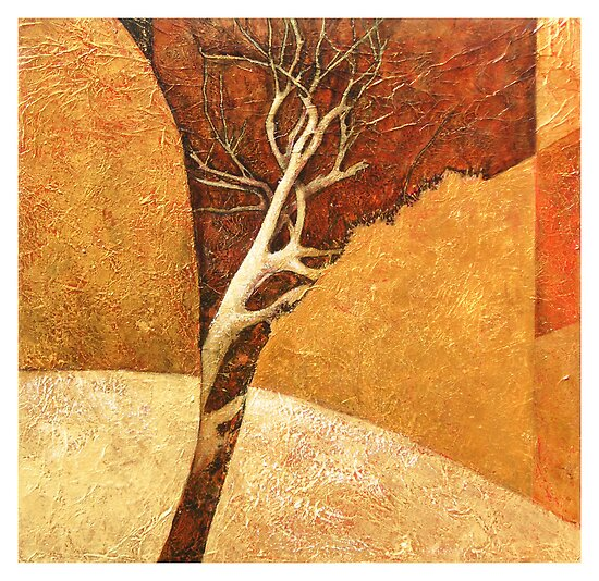 """Rocks,Tree, # 2"" by Karyn Fendley"
