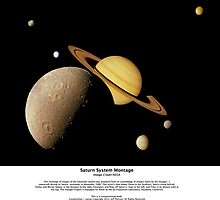 Saturn System Montage Series IV by Jeff Pierson