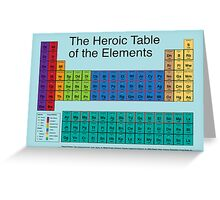 Heroic Table of Elements Greeting Card