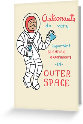 Scientific Astronauts - funny cartoon drawing with handwritten text by DiabolickalPLAN
