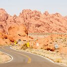 Winding Road Through Valley of Fire by dbvirago