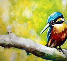 Kingfisher Painting by Samuel Durkin