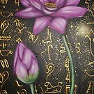 Lotus with Hieroglyphics by Cherie Roe Dirksen