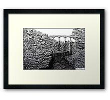 238 - PONTCYSYLLTE AQUEDUCT - DAVE EDWARDS INK - 2012 Framed Print