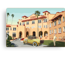 Art Deco Fenway Hotel, Dunedin, Florida Canvas Print