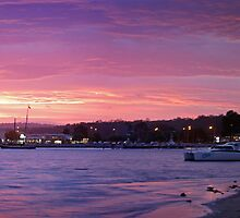Batemans Bay night panorama by Roger Neal