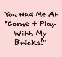 You Had me at Come and Play with My Bricks by Customize My Minifig by ChilleeW