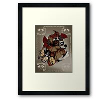 """""""Wrath of the Black Whirlwind"""" Framed Print"""