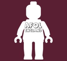 Minifig with AFOL England Slogan by Customize My Minifig by ChilleeW