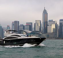 Hong Kong Harbour, taking the sea air, 2012. by johnrf