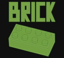 Green Brick by Customize My Minifig by ChilleeW