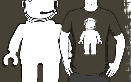 Banksy Style Astronaut Minifigure by Customize My Minifig by ChilleeW