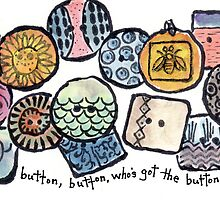 Handcrafted Ceramic Buttons by dosankodebbie