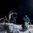 Ambush in the snow by Steve  Woodman
