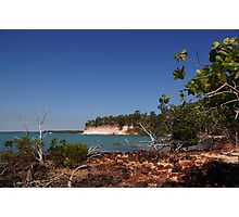 The magic of Arnhem Land - white cliffs, green trees and blue sea. Photographic Print