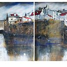 Across The Beck, Staithes Diptych by Sue Nichol