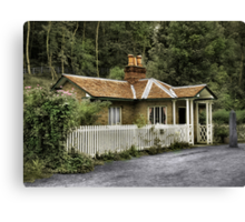 Toll House (Hand Coloured Postcard) Canvas Print