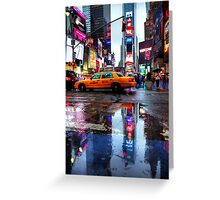 Times Square Puddle Greeting Card