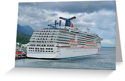 Carnival Spirit Moored in Ketchican Alaska by AnnDixon