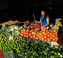 Fruit And Vegetable Girl - Chica De Frutas Y Verduras by Bernhard Matejka
