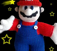 Knitted Super Mario by mrsmcvitty