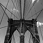 Brooklyn Bridge Wires - Black & White by photolove