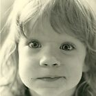 young girl close up black and white vintage 1970s by Tia Knight