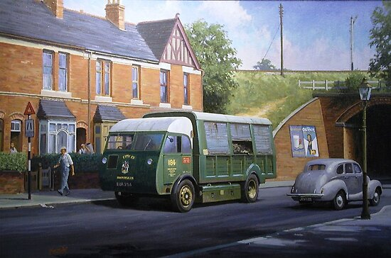 Morrison dustcart. by Mike Jeffries